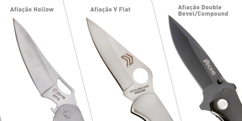 tipos de lâmina canivetes de bolso - Cutelaria Cimo
