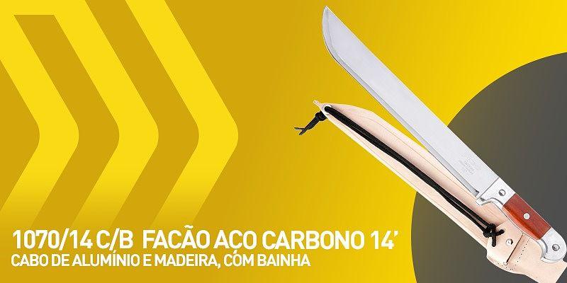 facão de aço carbono 14