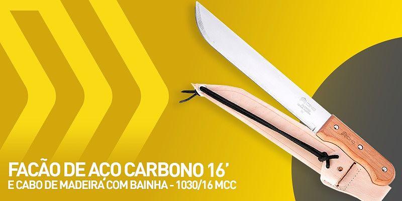 facão de aço carbono 16