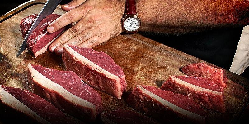corte da peça de carne