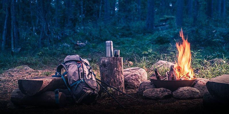 fogueira de camping