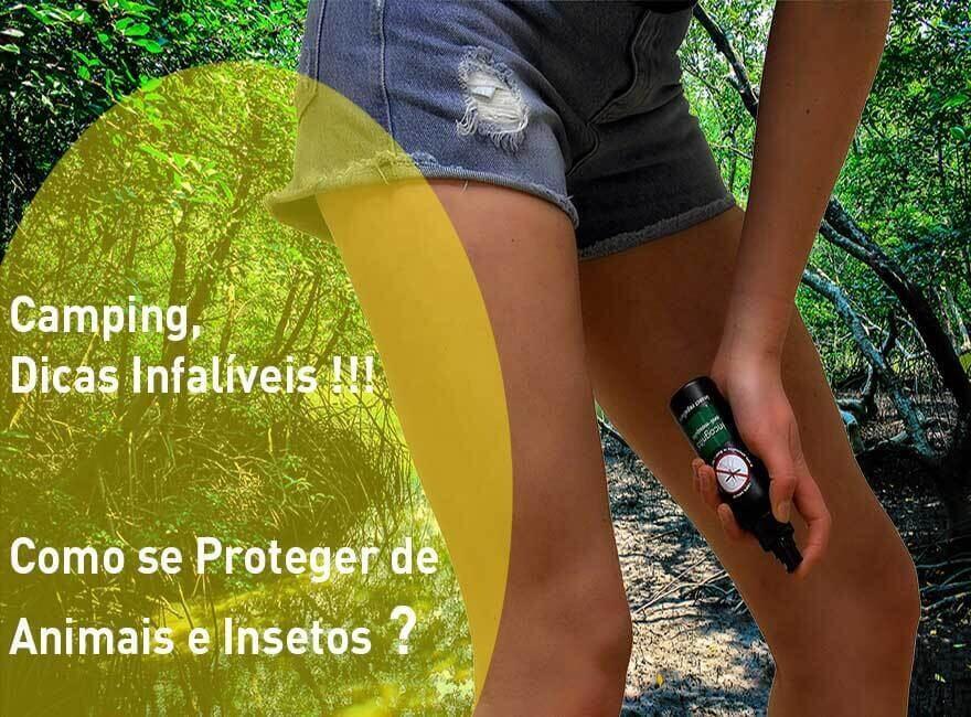dicas de acampamento como se proteger contra animais e insetos