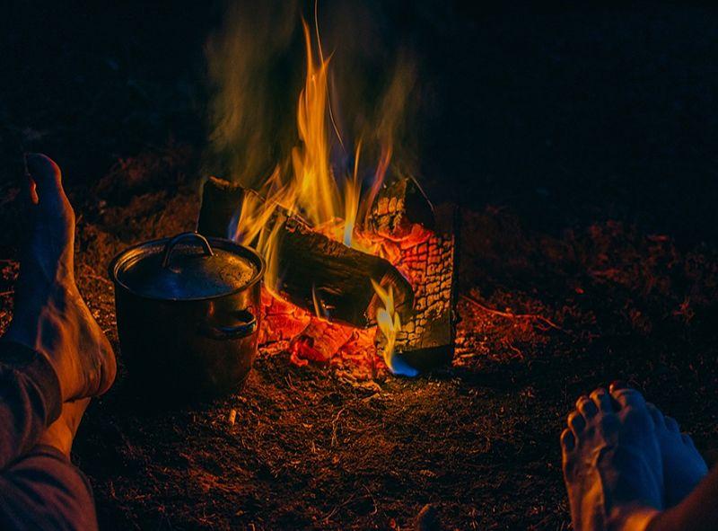 tipos de fogueiras cozinhar aquecer cutelaria cimo