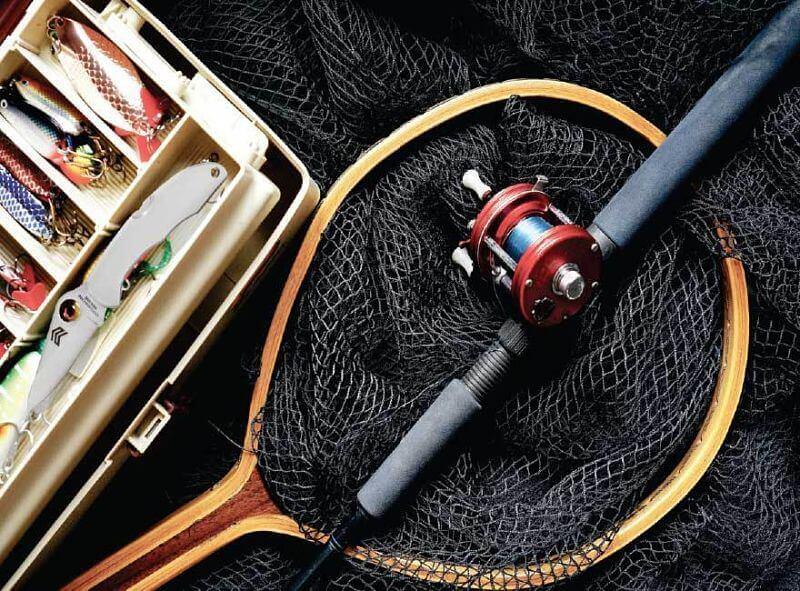 equipamentos para pescaria