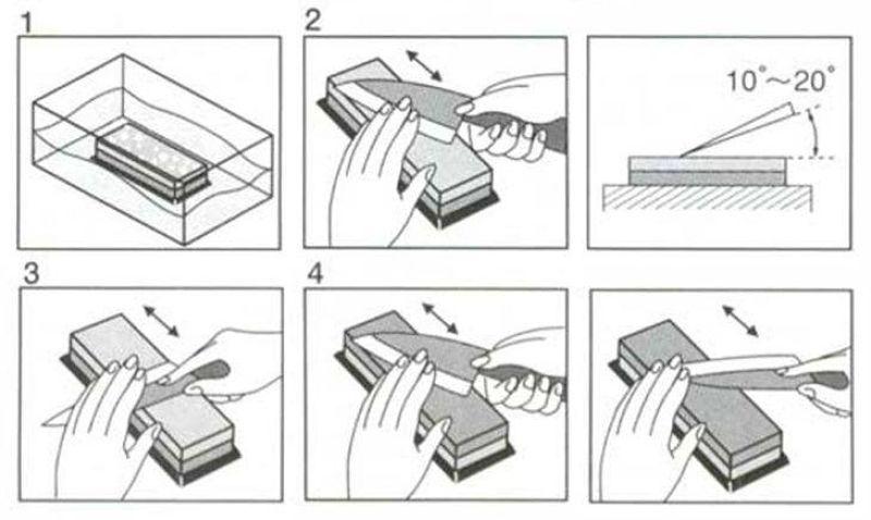 como afiar faca com pedra