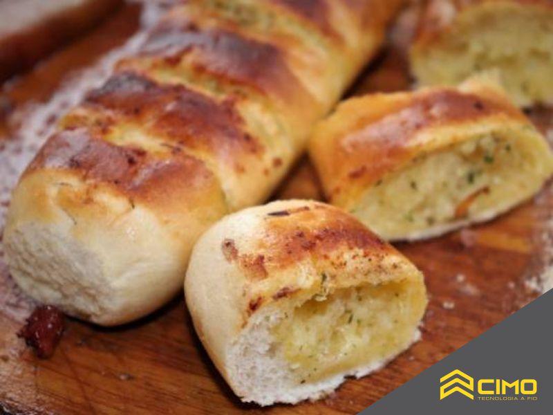 Pão de alho acompanhamento churrasco