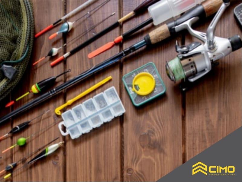 imagem dos principais equipamentos para pesca