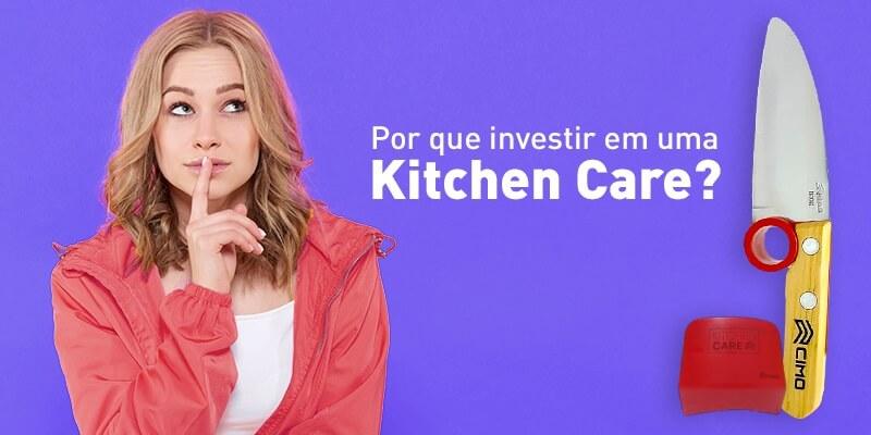 mulher perguntando por que investi numa faca de cozinha profissional Cutelaria cimo