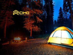 camping com barraca