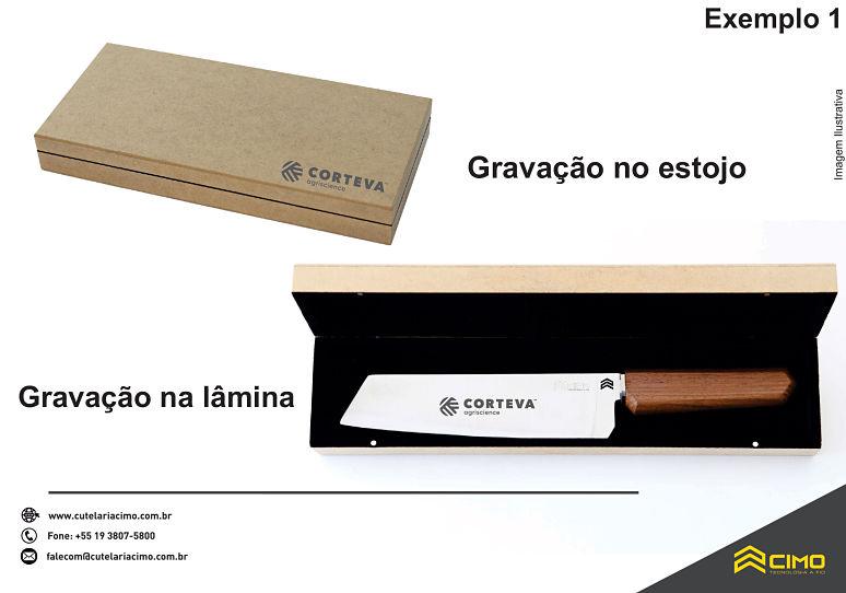estojo de faca personalizada com gravura