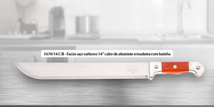 Facão Aço carbono 1070/14 - Cutelaria Cimo